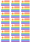 Greece Gay Pride Flag Stickers - 21 per sheet